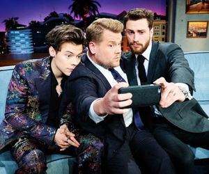Harry Styles and james corden image
