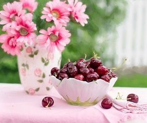 cherries, country living, and flowers image