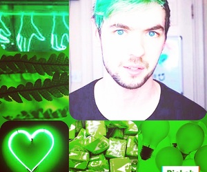 jacksepticeye and green aesthetic image