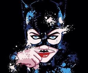 batman, cat woman, and fan art image