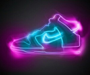 lights, nike, and shoes image