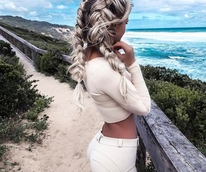 braid, hair, and french braid image