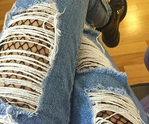 boots, fashion, and denim image