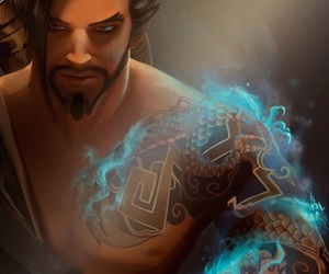 game, fan+art, and hanzo image