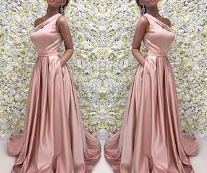 one shoulder, prom dress, and formal gown image