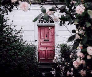 door, entry, and flowered image