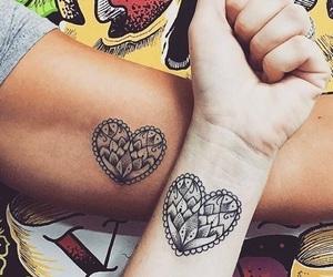 matching and tattoo image