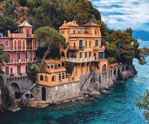 color, italy, and ocean image