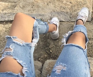 carefree, aesthetic, and jeans image