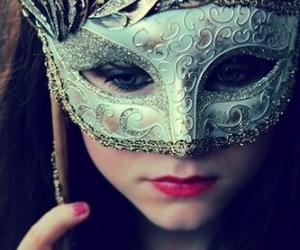 aqua, masquerade, and mask image