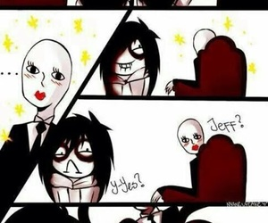 jeff the killer, slenderman, and funny image