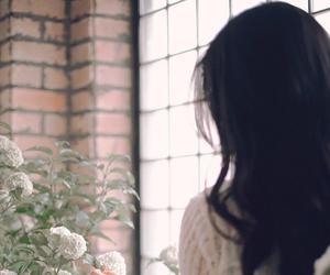 flower, girl, and korean image