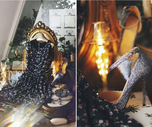 dress, glitter, and flower image