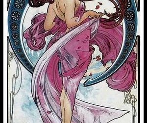 art, mucha, and Art Nouveau image
