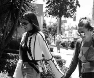 kendall jenner, black and white, and gigi hadid image