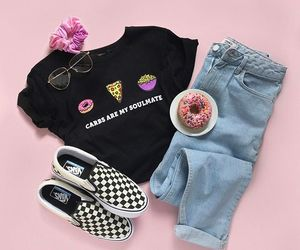 fashion, donut, and jeans image