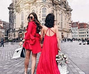 dress, beauty, and bff image