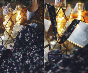 dress, flower, and vintage image