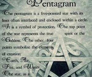 pentagram, witch, and witchcraft image