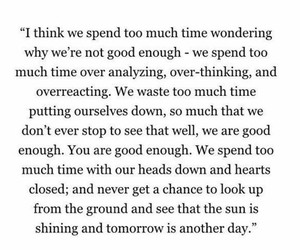 you, good enough, and overthinking image
