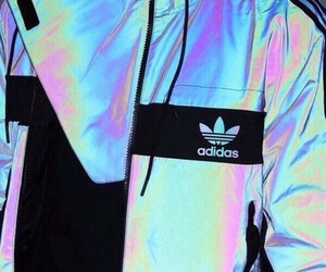 adidas, holographic, and jacket image