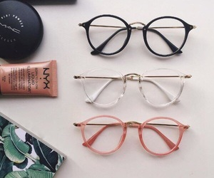 glasses, fashion, and pink image