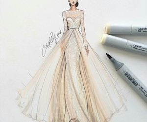 dress, art, and fashion image