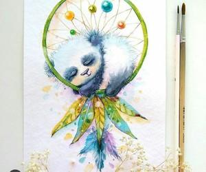 dibujo, drawing, and panda image