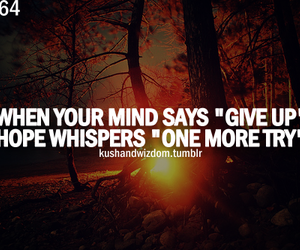 hope, quote, and mind image