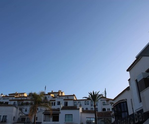 marbella, sunset, and sky image