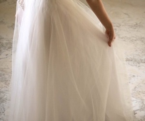 wedding dress, beautiful, and bridal image