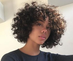 girl, beautiful, and curly image