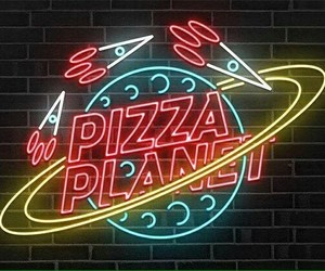 pizza planet and neon+ image