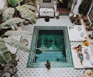 garden, hotel, and morocco image