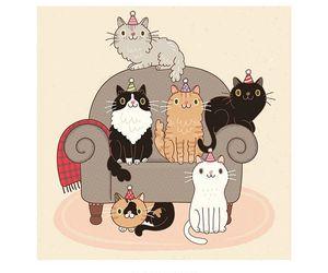 desenho, ilustracao, and gatitos image
