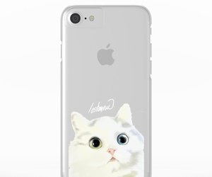 little cat, pink, and clear cases image