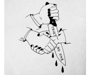 trust, quotes, and knife image