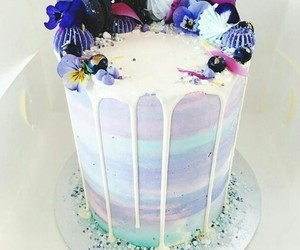 cake, blueberry, and dessert image