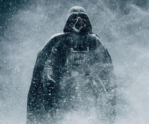 darth vader, star wars, and snow image