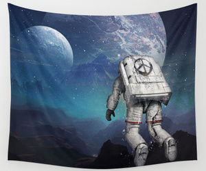 space, astronaut, and luna image