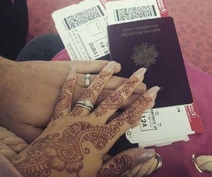couple, henna, and lové image