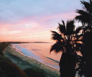 beach, sunset, and summer image