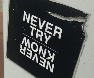 black and white, quote, and sticker image