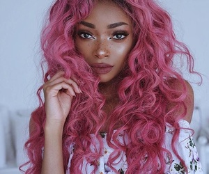 hair, pink hair, and beauty image