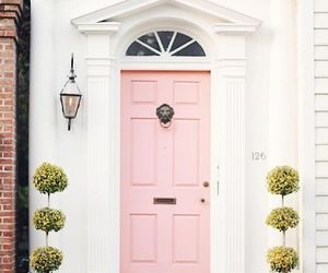 pink, door, and home image