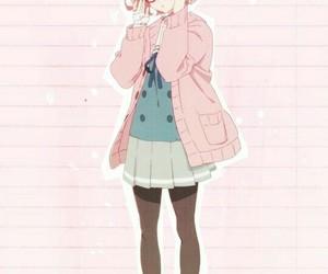 anime, pastel, and mirai kuriyama image