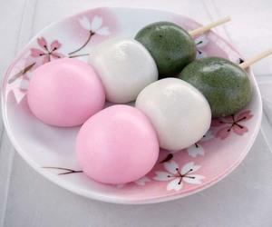 food, sweet, and dango image