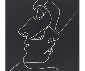 art, kiss, and drawing image