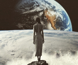 space, earth, and art image