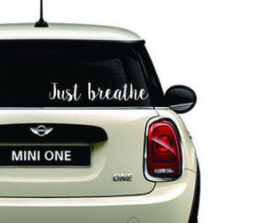 etsy, just breathe, and Vinyl Decal image